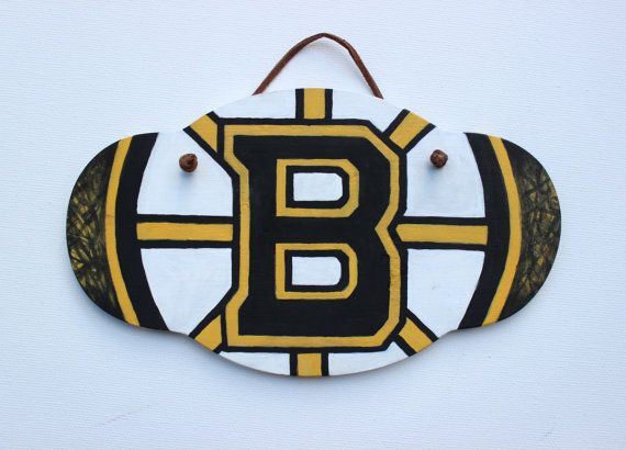 Bruins plaque painting, perfect gift, frontporchpainting on etsy.com