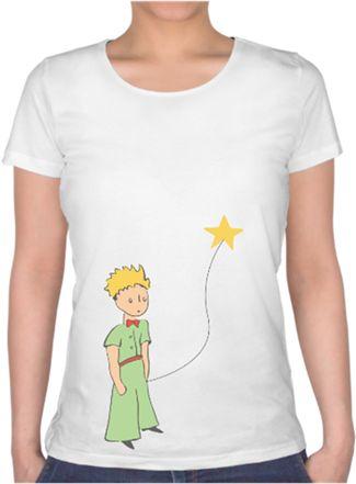 küçük prens tshirt Kendin Tasarla - Bayan U Yaka Tişört