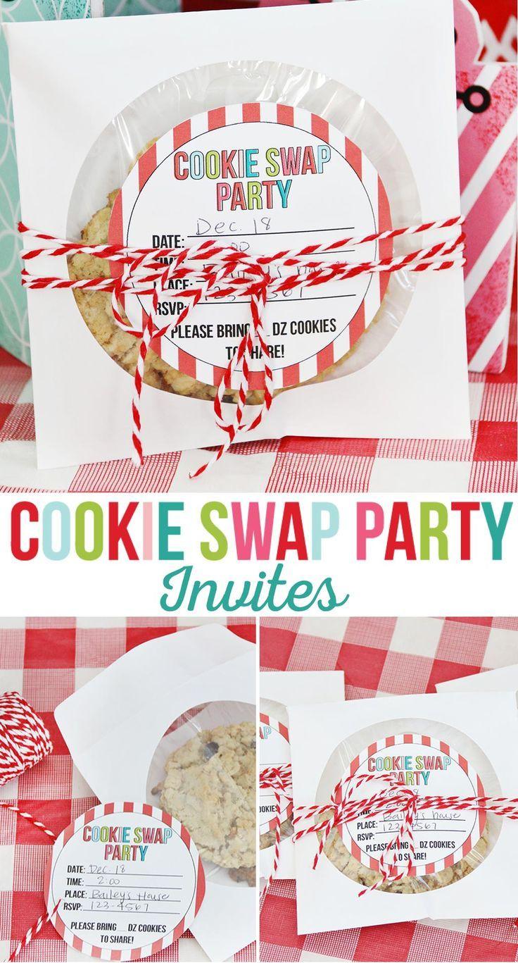Cookie Swap Party einladen zum ausdrucken | Wenn Sie einen Cookie ...