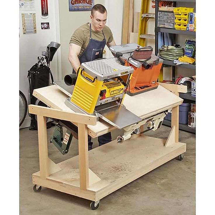 Flip-top Tool Bench, Woodworking Plans, Workshop & Jigs, Tool Bases & Stands, WO…