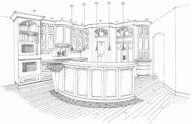 Easy Interior Design Sketches Kitchen