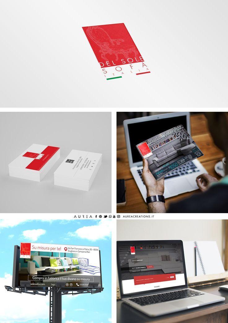 Del Sole Sofà - Logo - Office - Sito web - Adv - Social