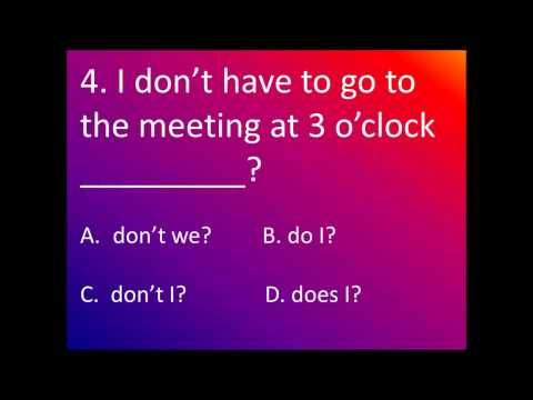 ESL TAG QUESTIONS Exercise, Intermediate Level - YouTube