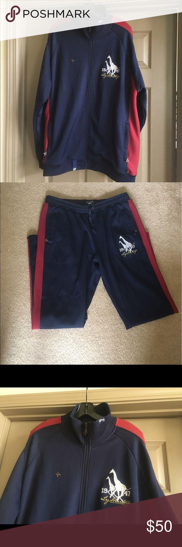 Men's LRG Sweat Suit, Jogging Suit Two piece set LRG Very Good Condition! Very attractive Set! Lrg Suits & Blazers