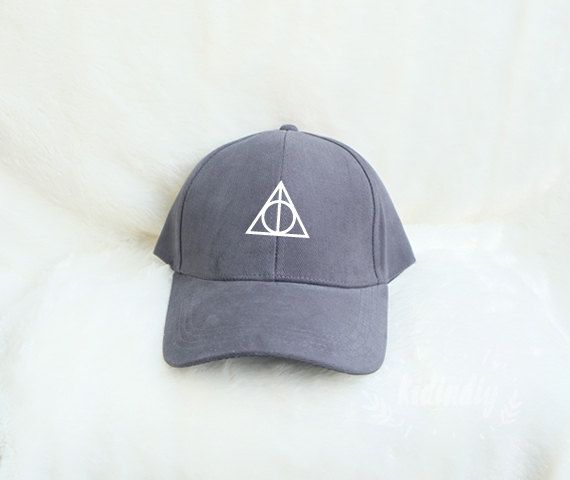 Deathly Hallows Baseball Hat Harry Potter Cap by kidindiy on Etsy