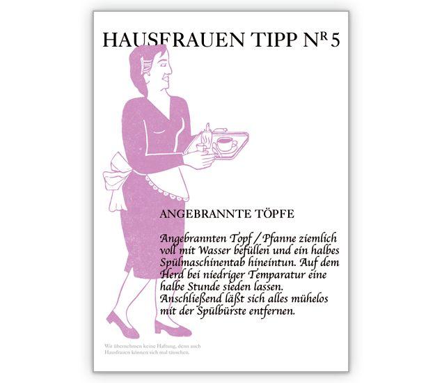 Koch-Anfänger Grusskarte, Hausfrauen Tipp Nr 5: angebrannte Töpfe - http://www.1agrusskarten.de/shop/koch-anfanger-grusskarte-hausfrauen-tipp-nr-5-angebrannte-topfe-2/    00017_0_1114, Beratung, Braut, Grußkarte, Klappkarte, Koch, Kochen und Essen, Ratgeber Karten, Ratschlag, Rezept00017_0_1114, Beratung, Braut, Grußkarte, Klappkarte, Koch, Kochen und Essen, Ratgeber Karten, Ratschlag, Rezept