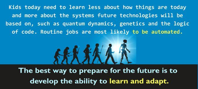 Future Skills Learn Adapt Education Quotes Future Technology Learning