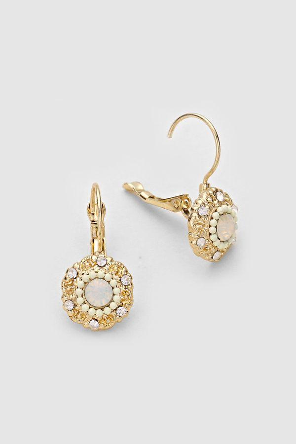 Addison Earrings in Ivory