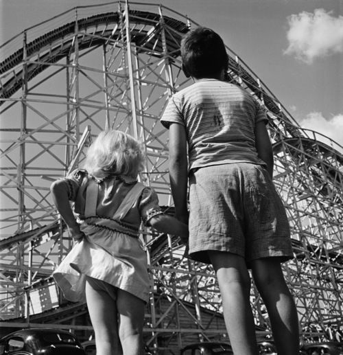 Stanley Kubrick Brother and Sister At Palisades Amusement Park, 1946