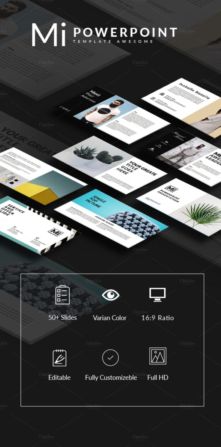 Mi -Powerpoint Template Multipuspose by Slidercreative on @creativemarket