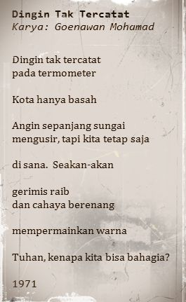 Goenawan Mohamad's poem