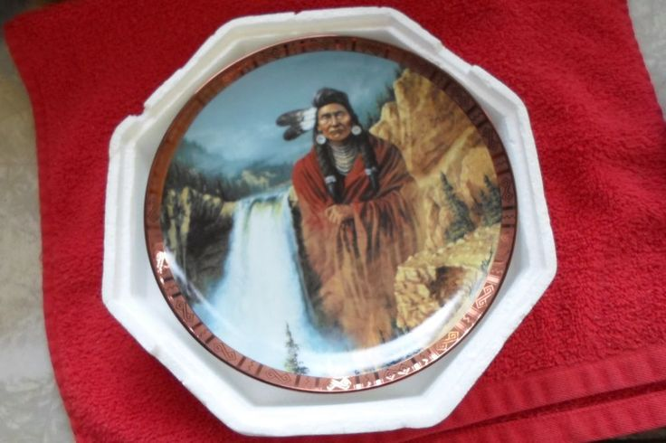 AMERICAN INDIAN HERITAGE FOUNDATION MUSEUM COLL. PL. CHIEF JOSEPH  #FRANKLINMINT