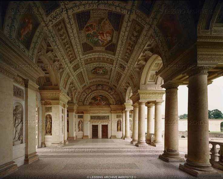 Garden loggia palazzo te architecture renaissance for Garden loggia designs