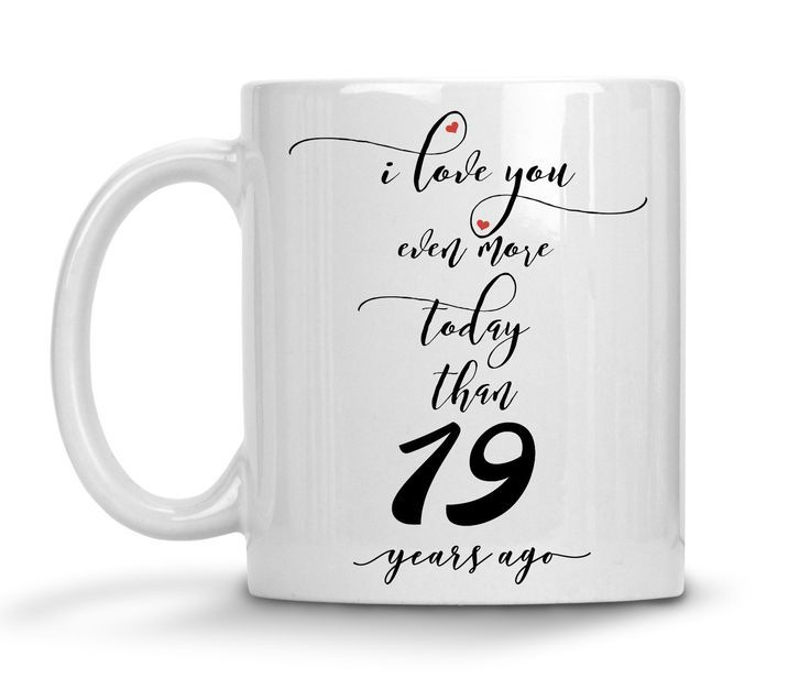19th Wedding Anniversary Gift For Him Personalized Anniversary Mug 19th Anniv Anniversary Gifts For Husband 19th Anniversary Gifts Anniversary Gifts For Wife