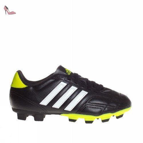 Adidas Chaussures Garçon Kids/Boys Football Boot Goletto IV TRX FG Boys Junior Kids Soccer Boots Black/Lime U.K. Sizes 13.5, 2.5, 3,3.5, 4, 4.5, 5.5 New Q33538 (UK4.5 EU37 1/3) - Chaussures adidas (*Partner-Link)