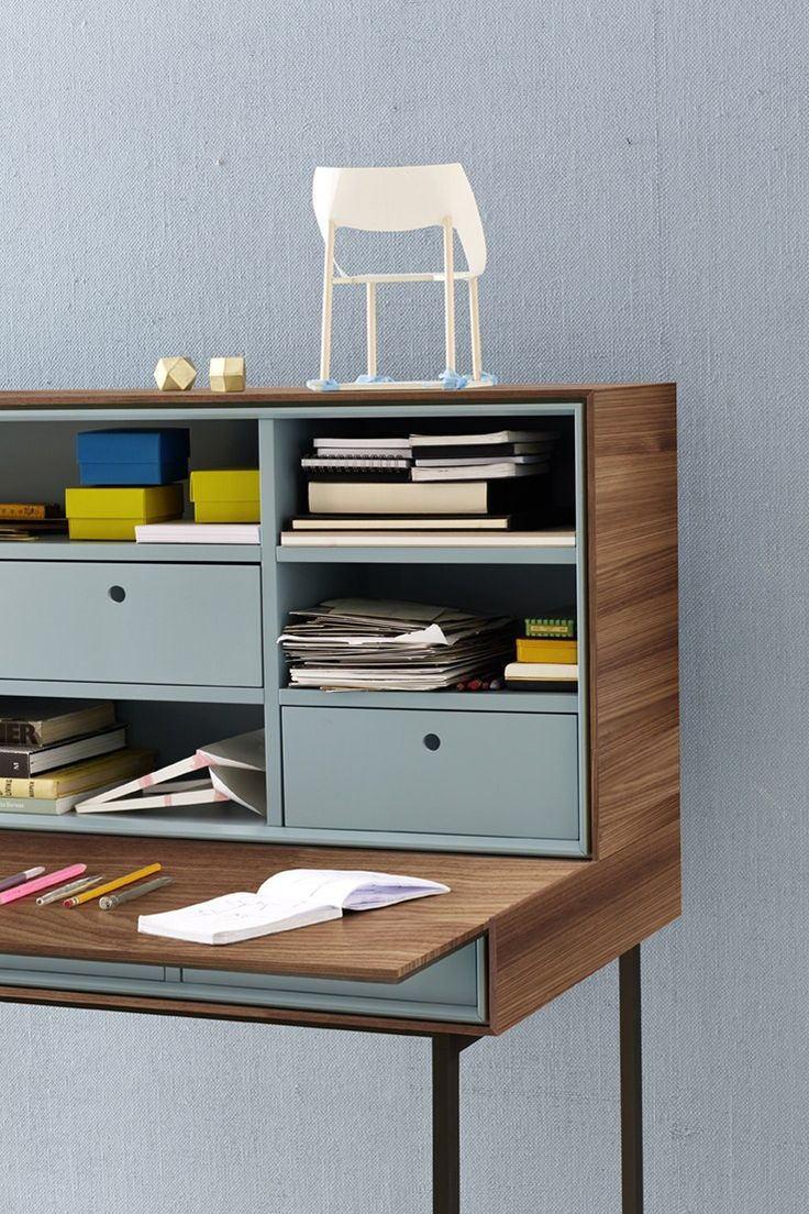 WOODEN SECRETARY DESK ACT COLLECTION BY TEAM BY WELLIS | DESIGN THIS WEBER