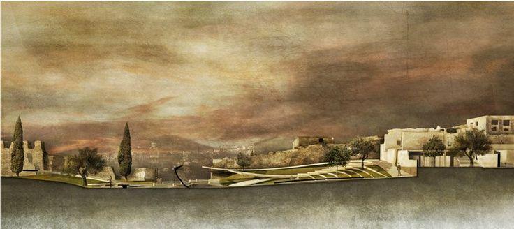 The Walls Garden, Thessaloniki - competition entry by Kallikratis Evlogimenos