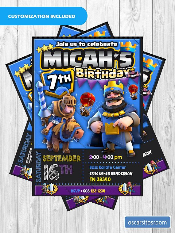 Clash Royale Customized Invitation / Clash Royale Birthday