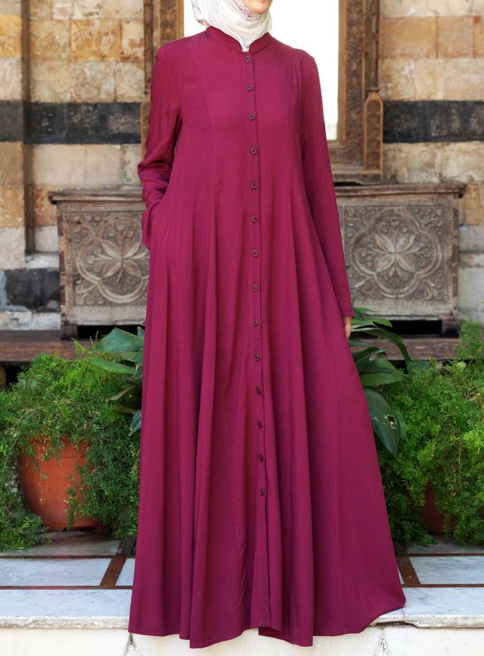 SHUKR USA | Shirt Dress with Godets- Love this abaya