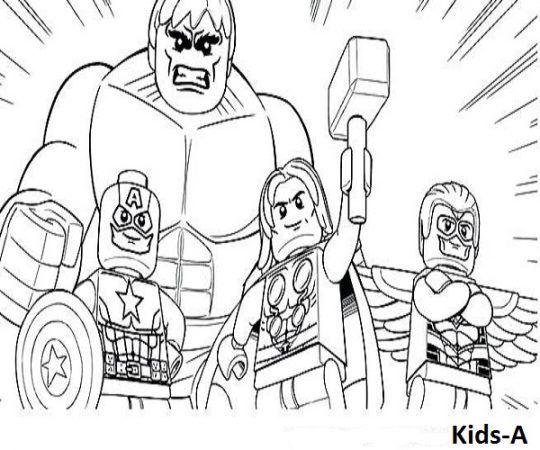 lego ausmalbilder-182   superhelden malvorlagen
