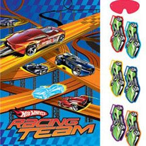 Hot Wheels party game - pin the racing car on the track