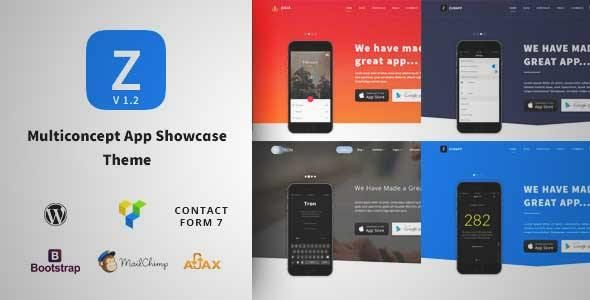 Download and review of ZurApp - Multipurpose App & SaaS Showcase Wordpress Theme, one of the best Themeforest Technology themes