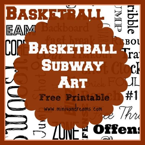 A free basketball subway art printable perfect for framing or just hanging up as is. Make your basketball fanatic happy!