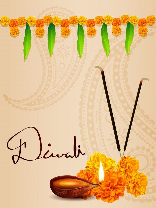 Diwali Diya Background With Flowers And Leaves Happy Diwali Images Diwali Images Happy Diwali Images Download