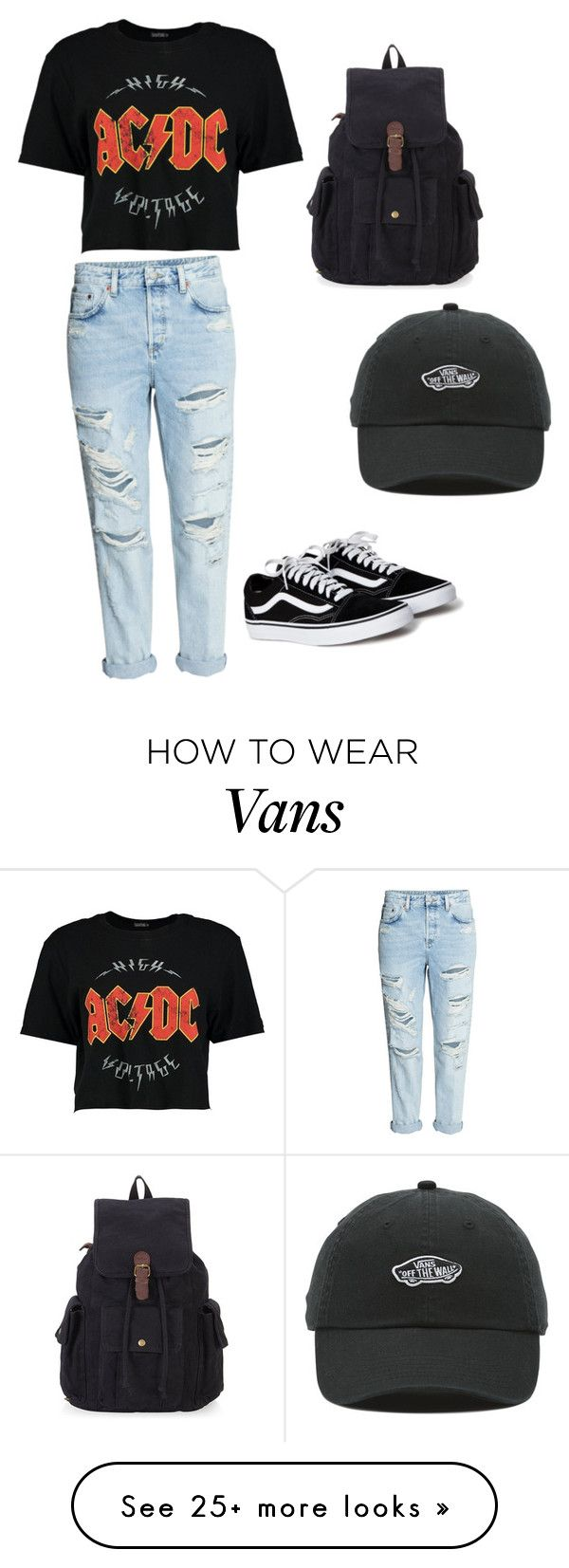 """""""Untitled #1"""" by emily-shields103103 on Polyvore featuring Boohoo and Vans"""