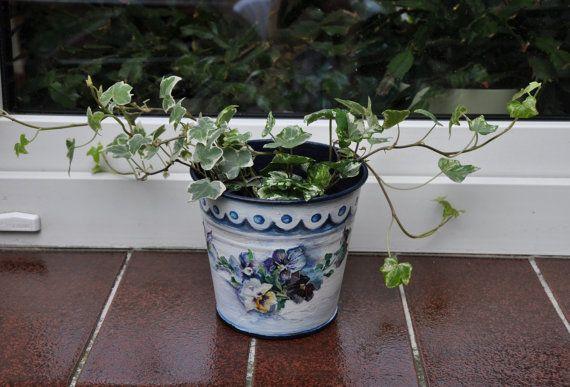Récipient de jardin cache-pot floral pot de fleur par AgaArtFactory