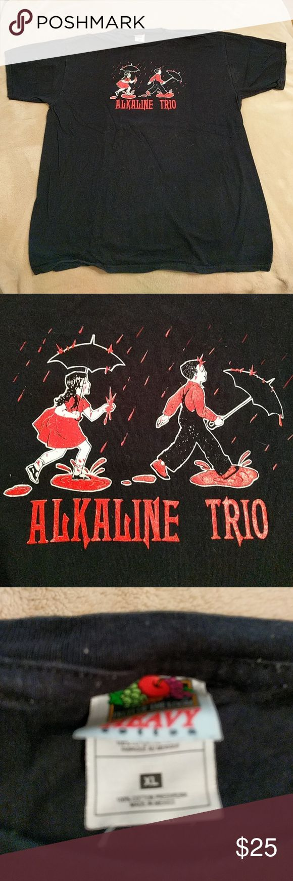 ALKALINE TRIO!!! Barely worn. Good as NEW!!! Fruit of the Loom Shirts Tees - Short Sleeve