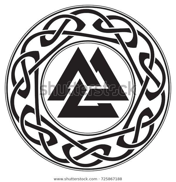 Najdete Stock Snimky Na Tema Walknut Sign God Odin Decorated Ornaments V Hd A Miliony Dalsich Stock Fotografi Viking Symbols Norse Symbols Viking Tattoo Symbol