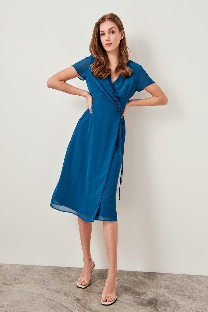 Trendyol Blue High Waist Jeans Jegging Tclss19lr0104 9 The Dress Kadin Kiyafetleri Kadin Modasi Elbiseler