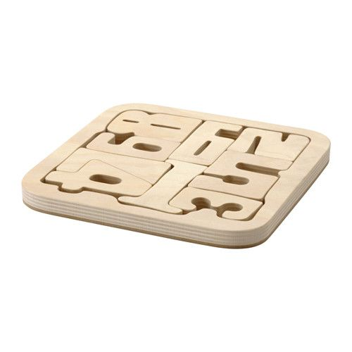 PYSSLA Puzzle IKEA Your child can paint the pieces of this puzzle in their favorite colors, thanks to the untreated wooden surface.