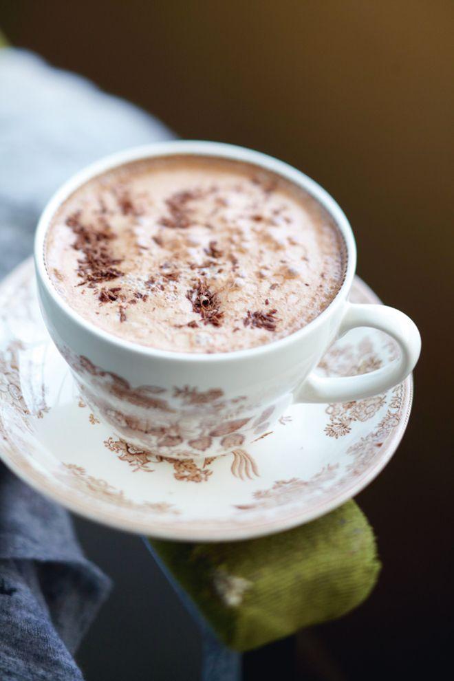 Ρόφημα+σοκολάτας+με+μαρμελάδα+κάστανο