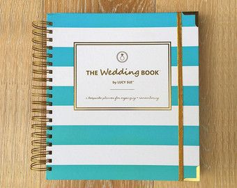 Wedding Planner Book Wedding Book Keepsake Organizer by LucySuiSF
