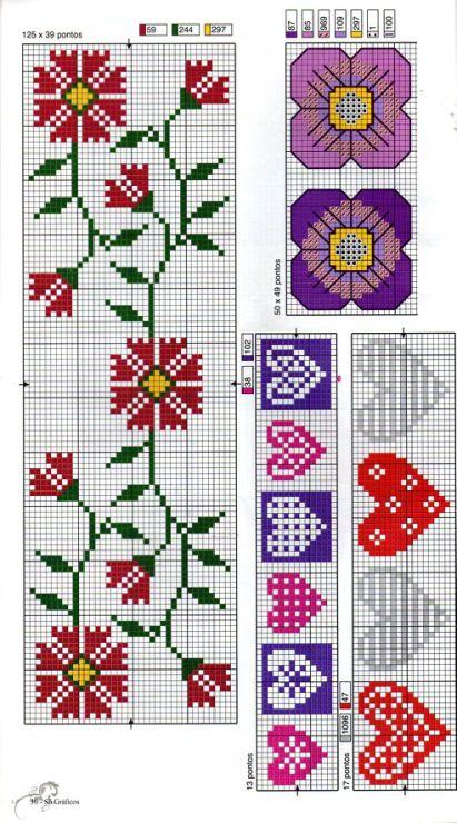 Cross-stitch Flowers & Hearts...    Gallery.ru / Фото #17 - 266 - Yra3raza