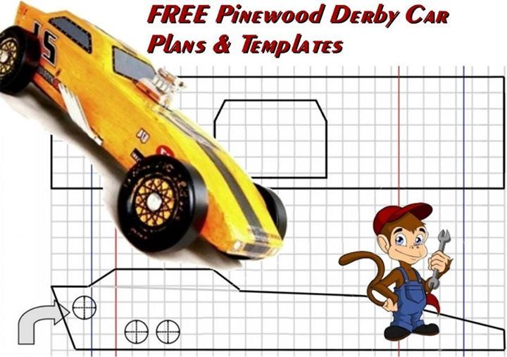 Free pinewood derby car plans and templates pinewood for Boy scouts pinewood derby templates