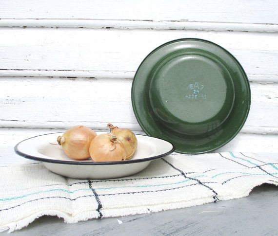 Check out this item in my Etsy shop https://www.etsy.com/listing/241142000/enamel-plates-soviet-army-dishes-1950s