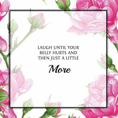 Vrolijke bloemen kaart met roze en groene kleuren. De tekst kan volledig aangepast of vervangen. #quotecard #quote #card #floral #pink #green #plants #drawing #painting #illustration #art #greetingcard #squarecard #framedcard #ondersteuning