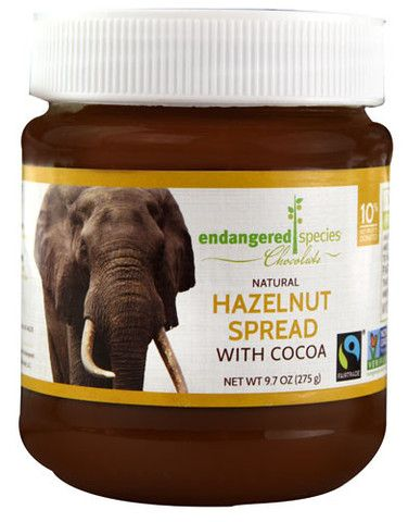 Endangered Species Chocolate Natural Hazelnut Spread with Cocoa #vegan