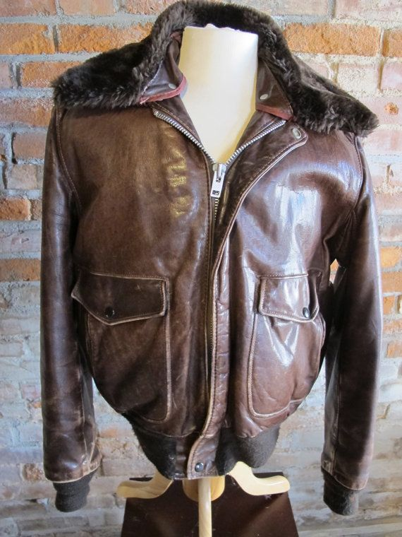 Blouson cuir schott flight jacket