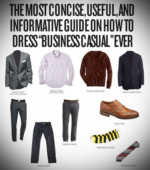 """The most concise, useful, and informative guide on how to dress """"Business Casual"""" ever"""