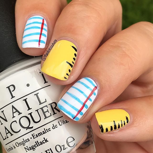 Back to school nail art take 3!!! Super simple freehand design - rulers - 25+ Trending School Nail Art Ideas On Pinterest Nail Art For