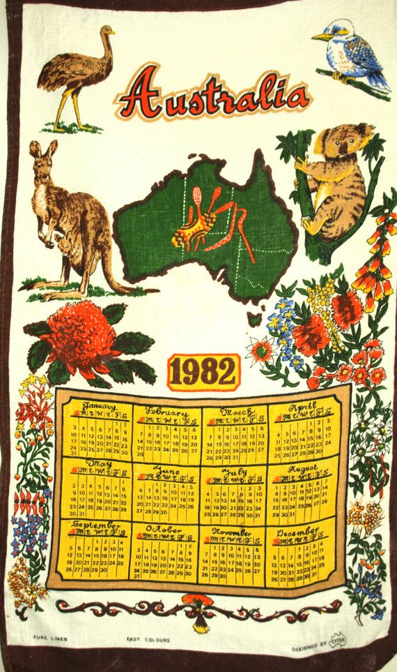 Retro Australia Calendar 1982 Wildflowers Souvenir by FunkyKoala