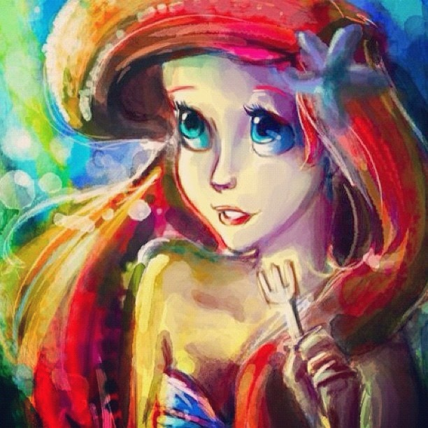 Ariel Watercolor loved her when I was little