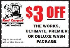 Coupons | Red Carpet Car Wash