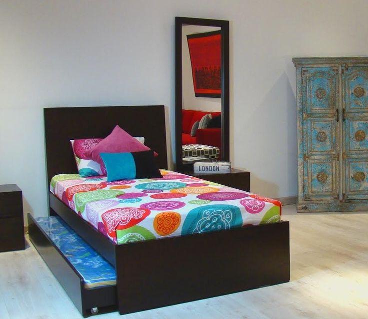 Vers til y funcional as es la cama modena una cama nido for Espejos habitacion juvenil