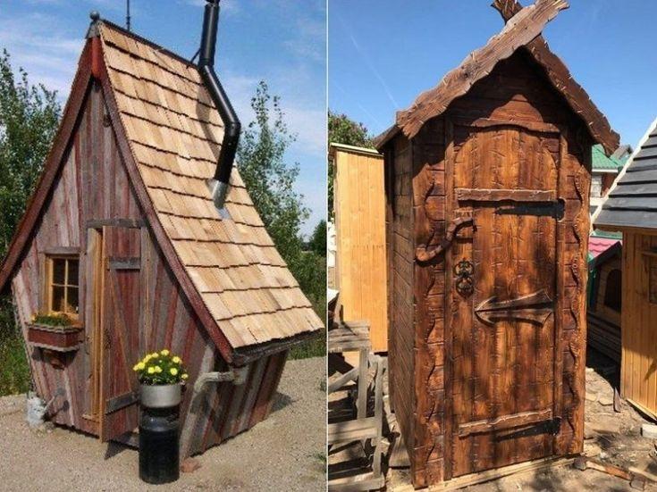 Дизайн туалета на дачном участке в 2020 г (с изображениями ...