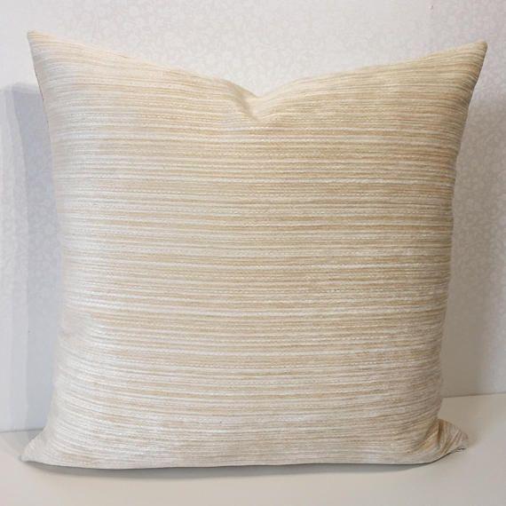 Ivory velvet pillow Plain cushion cover Designer fabric CREAM